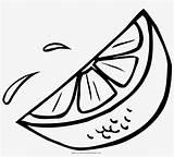 Lime Coloring Slice Orange Template Drawing Sketch sketch template
