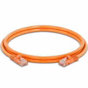 Cat5e Patch Cable Orange 350mhz Rj45  U2013 5 Ft