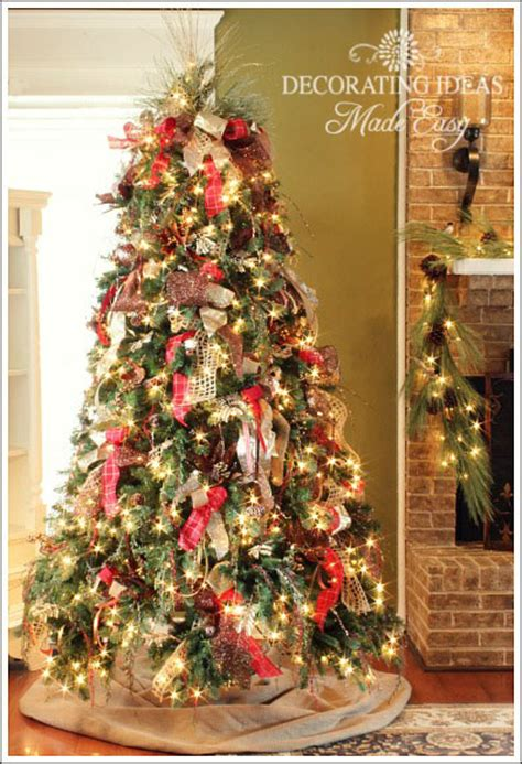 decorate  christmas tree   ribbon