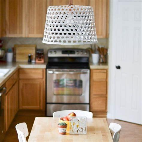 ikea kitchen designs a design forward diy light fixture using a 10 ikea basket 1784