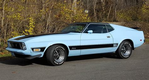 'baby' Blue 1973 Ford Mustang Mach 1 Could Be Yours For