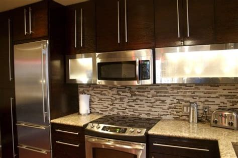 toffee colored kitchen cabinets chocolate cabinets with handles home basement 6273