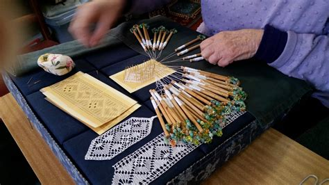 bobbin lace making demonstration history council  victoria