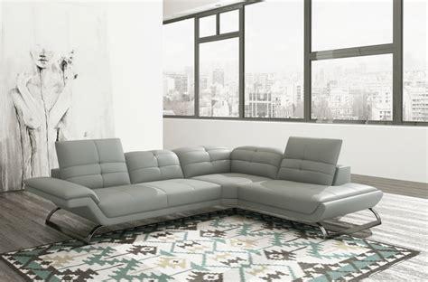 canap angle gris clair canapé d 39 angle en 100 tout cuir italien 5 places moderni