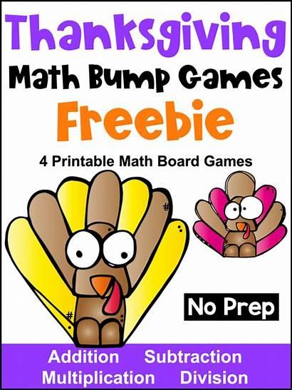 Math Thanksgiving Games Bump Divide Division Teacherspayteachers