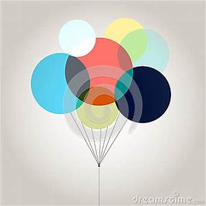 Bright Colored Balloons Stock Vector Image