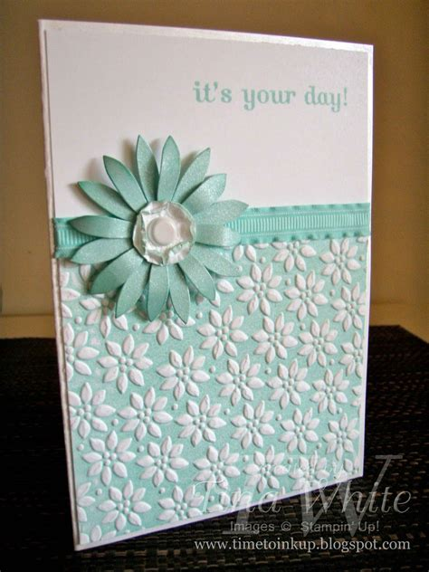 beautiful   day cardfeaturing  embossing folder coloring technique   ink