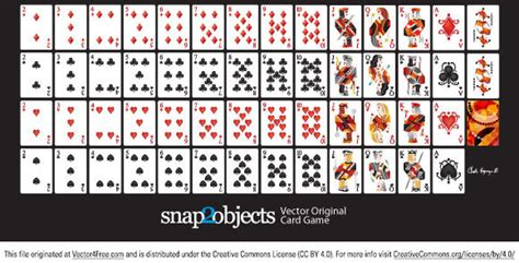 vector playing cards deck  vector  adobe
