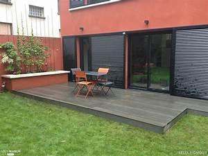 pose d39une terrasse en bois composite silvadec gris With pose d une terrasse en composite