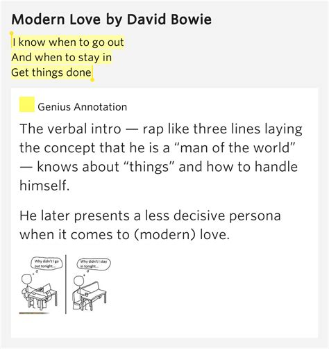 david bowie modern lyrics i when to go out and when to stay in get things done modern lyrics meaning