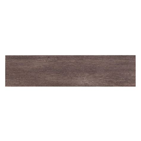 tile home depot mono serra wood nero 6 in x 24 in porcelain floor and wall tile 16 sq ft case 9588 the