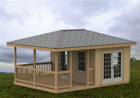 hip roof house plans to build 14 x 20 partially enclosed gazebo cave she shed hip