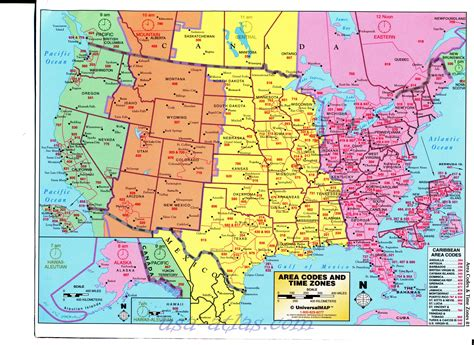 map usa time zones