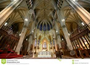 indoor decorations st 39 s cathedral new york city royalty free stock