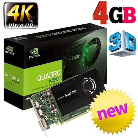 However, with our selection of best graphics cards for 4k gaming, we've tried to pander to the needs of a variety of individuals. LeadTek nVidia Quadro K2200 4GB 4K Graphics Card - Graphics Cards