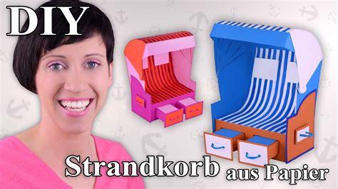 aus papier strandkorb aus papier chair bastelanleitung