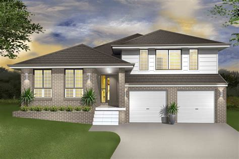 contemporary house floor plans hinchinbrook split level sloping block marksman