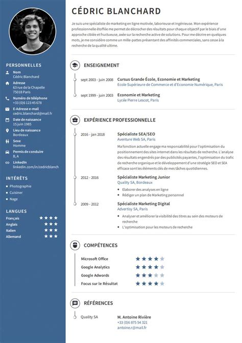Créer Un Cv by 16 Cr 233 Er Un Cv Liberalarts For Wardemory