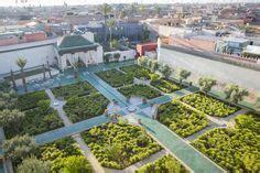 Calming Garden Paradise by Aerial View Of The Islamic Garden Le Jardin Secret