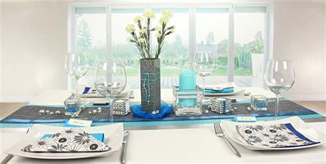 tischdeko blau silber tischdekorationen trendmarkt
