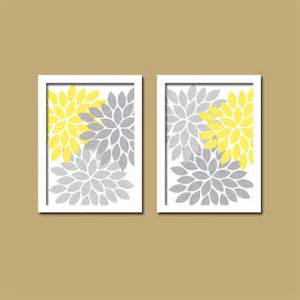 yellow gray wall art yellow gray bathroom wall art by