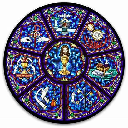Sacraments Catholic Church Formation Faith Window Seven