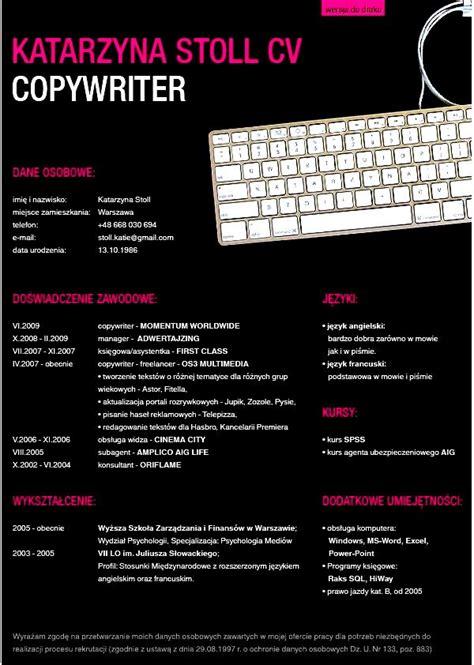 Successful Copywriting Resumes by Katarzyna Stoll Copywriter Cv Free Sles Exles Format Resume Curruculum Vitae