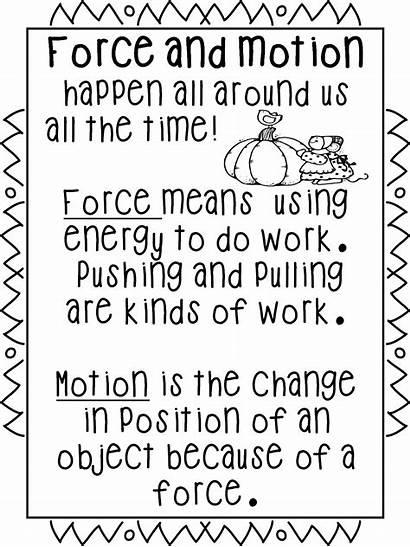 Grade Motion Science Force Worksheet Clipart Kindergarten
