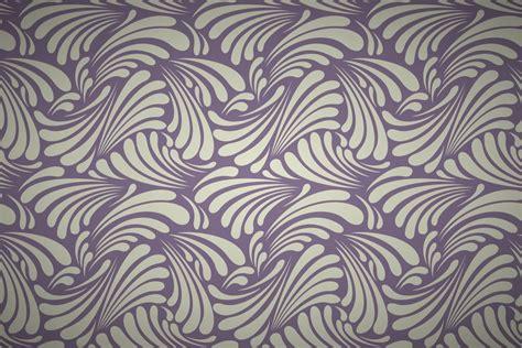 Free Art Nouveau Leaf Curls Wallpaper Patterns