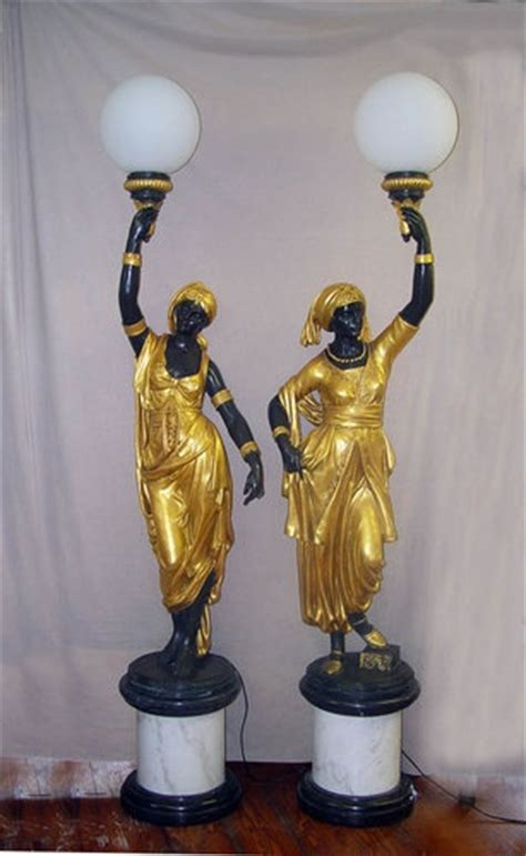 french bronze empire nubian candelabras blackamoors life