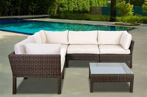 brown resin wicker patio furniture sears
