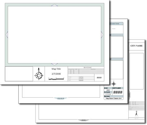 Acad Template by Templates For Maps And Map Books