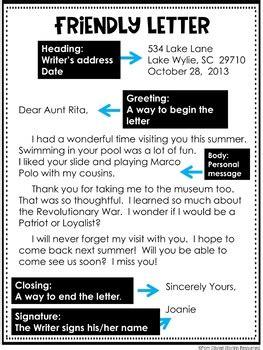 a friendly letter friendly letter freebie by rockin resources teachers pay 20320