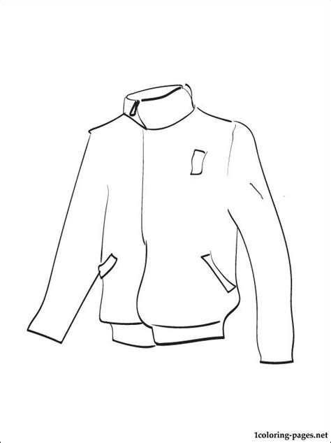 jacket coloring page  print  coloring pages