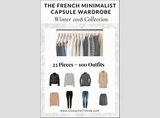 The French Minimalist Capsule Wardrobe Winter 2018