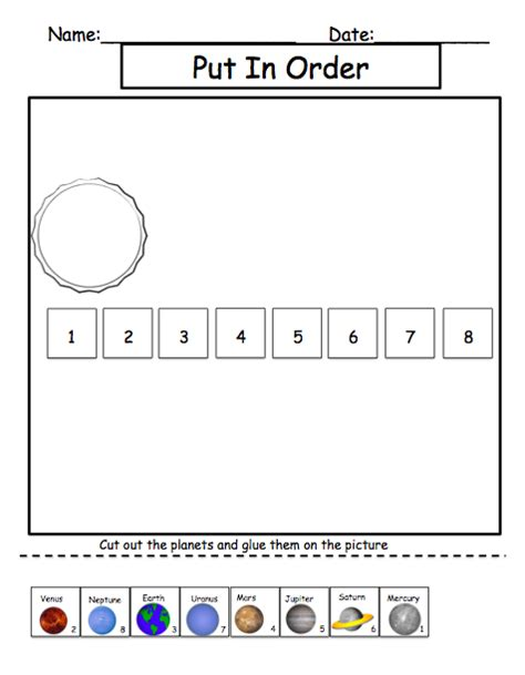 solar system cut and paste worksheet planets cut and paste worksheets pics about space