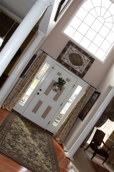 Sidelight Curtain Panel by Two Story Foyer