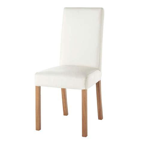 chaise en cuir blanc chaise imitation cuir blanc rotterdam maisons du monde
