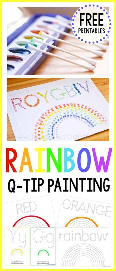 rainbow  tip painting printables