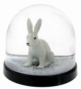 Boule à Neige : boule neige lapin lapin paillettes blanches klevering made in design ~ Teatrodelosmanantiales.com Idées de Décoration