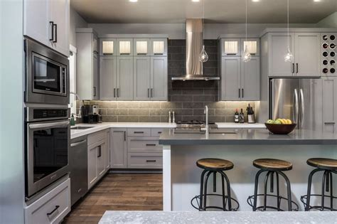 gray kitchen white cabinets exles of gray kitchen cabinets quicua com
