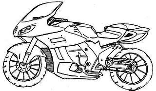 : Desenhos de motos para colorir