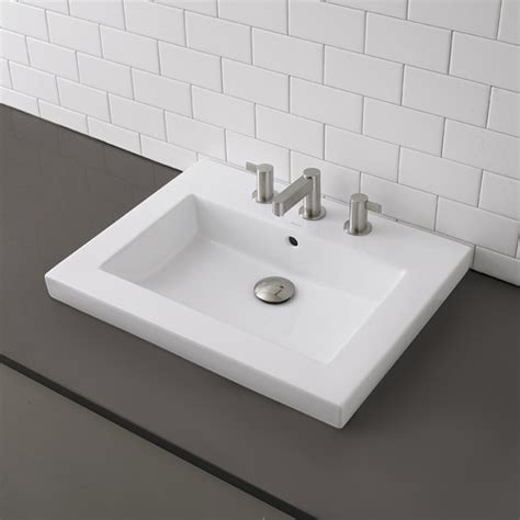 american standard semi recessed sink classically redefined rectangular semi recessed bathroom