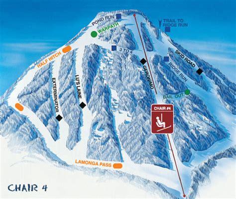 spokane mt map mount ski piste maps area gonzaga resort washington skimap
