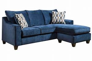 Elizabeth sofa in blue with moveable chaise at gardner white for Sectional sofa with movable chaise