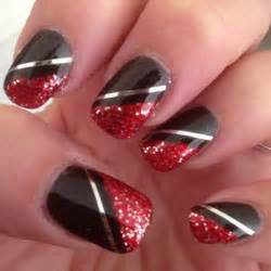 Black and red nail designs stylish