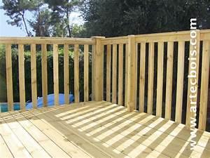 balustrade bois myqtocom With modele escalier exterieur terrasse 8 balustrade bois exterieur pas cher