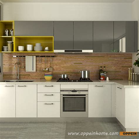 white gloss acrylic kitchen cabinets oppein kitchen in africa 187 op15 a06 modern white and gray