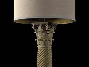 corinthian column floor lamp 3d model restoration hardware With corinthian glass floor lamp