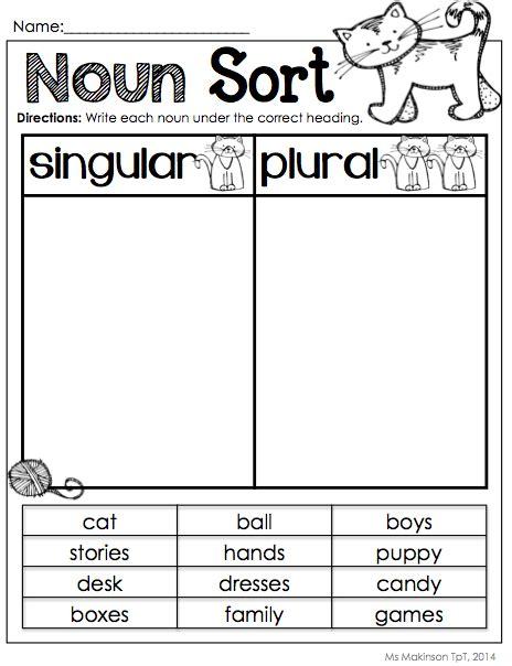 nouns plural nouns gender and language arts
